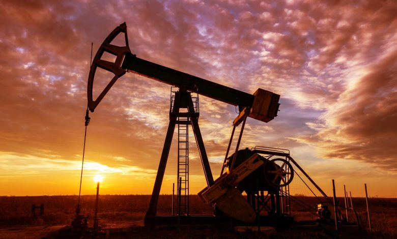 Oil and Gas Well Pump Sunset