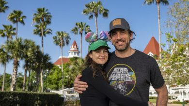 Aaron Rodgers and Shailene Woodley show PDA at Disney World