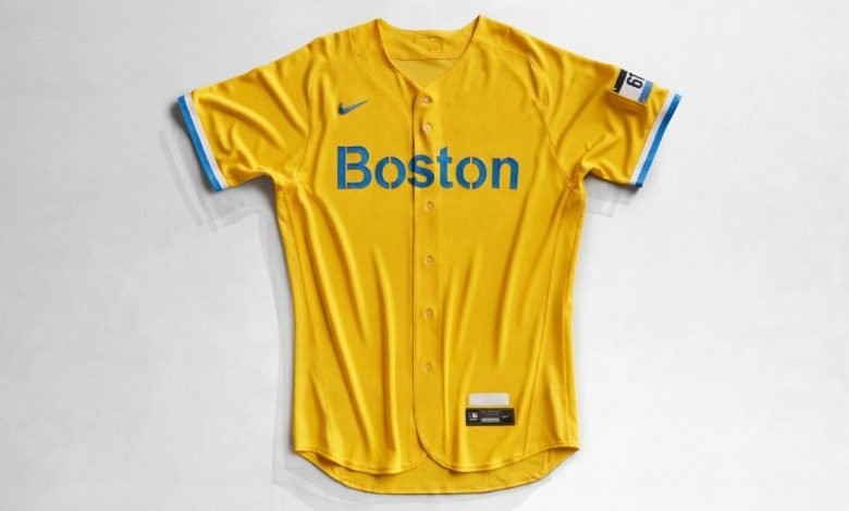 Boston Red Sox 'push the envelope' with marathon-inspired blue-yellow uniforms