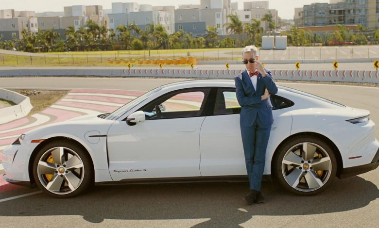 Porsche and Bill Nye the Science Guy show off the Taycan EV