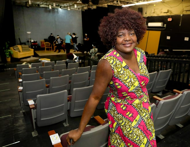 Rhonda Wilson, the owner and founder of The Star Center Theater, at the theater in Gainesville Fla. Feb. 18, 2021. Twenty years ago Wilson started The Star Center by staging performances at local churches, now Wilson has grown her production theater to a full theater.