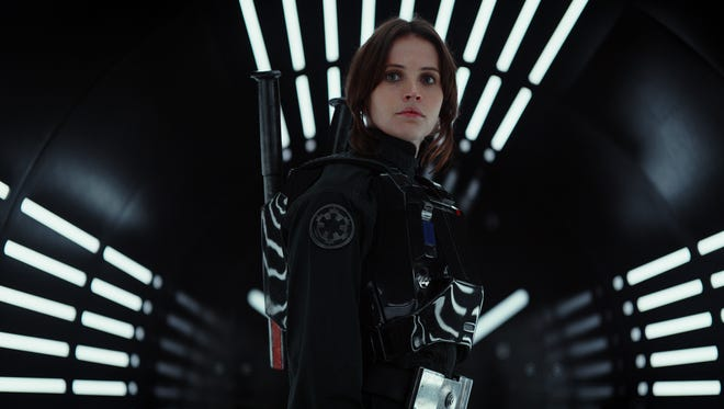 "Felicity Jones stars as Rebel spy Jyn Erso in ""Rogue One: A Star Wars Story."""