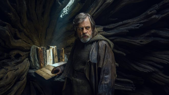 "Luke Skywalker (Mark Hamill) is in self-imposed exile on an island when he's found by a potential new apprentice in ""Star Wars: The Last Jedi."""