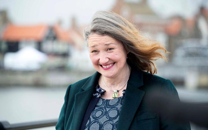 Jill Mortimer pictured on the campaign trail days before her historic victory - Bethany Clarke
