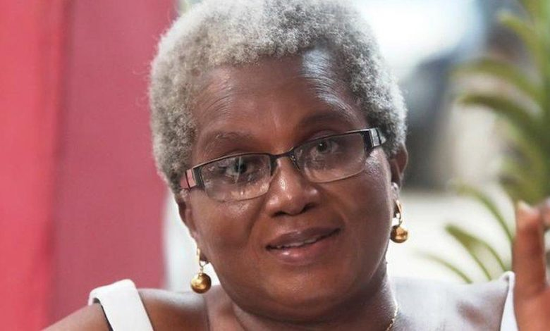 The woman bucking the trend in Ghana to embrace her grey hair