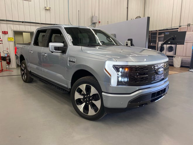 The 2022 Ford F-150 Lightning electric pickup