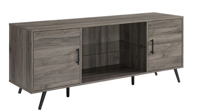 This TV stand has ample storage for all of your entertainment needs.
