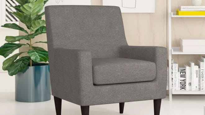 This chair is an essential for any cozy living space.