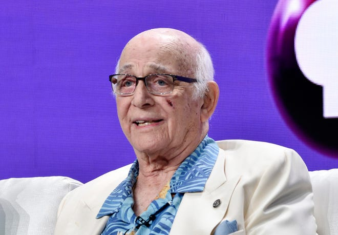 """FILE - IN this July 31, 2018 file photo shows actor  Gavin MacLeod during a panel discussion on the PBS special """"Betty White: First Lady of Television"""" during the 2018 Television Critics Association Summer Press Tour at the Beverly Hilton in Beverly Hills, Calif.   Gavin MacLeod has died. His nephew told the trade paper Variety that MacLeod died early Saturday, May 29, 2021."""