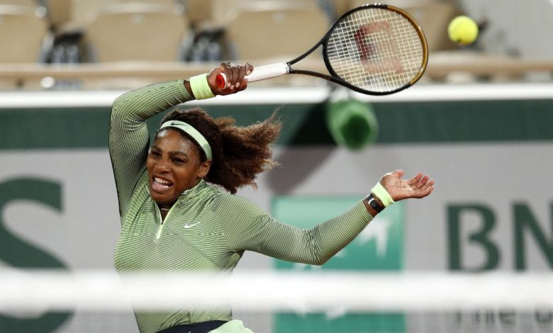 2021 French Open - Serena Williams lights up tournament's first-ever night session