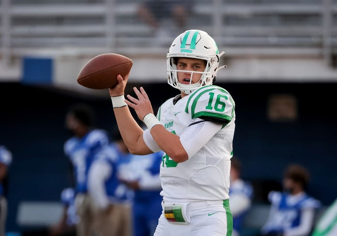 Isidore Newman School sophomore quarterback Arch Manning (16) is the nephew of former NFL quarterbacks Peyton and Eli Manning and a five-star 2023 recruit