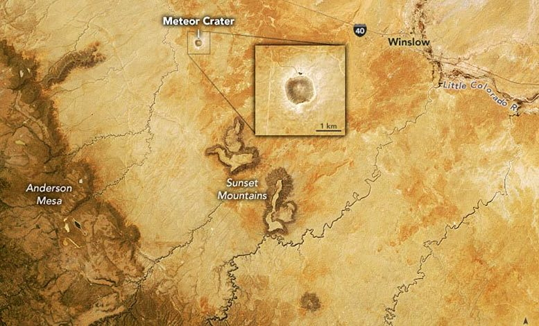 Arizona's Meteor Crater Annotated