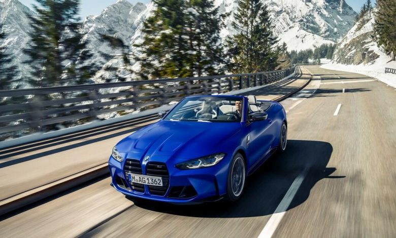 BMW debuts 2022 M4 Competition Convertible with all-wheel drive for the first time