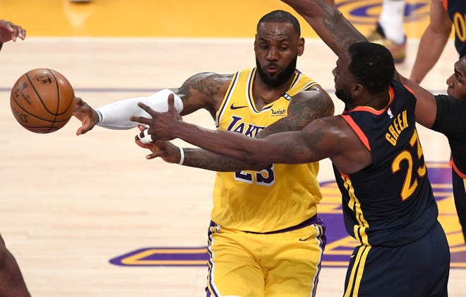 LeBron James and the Lakers open the first round Sunday against the Suns.