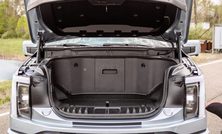 Check out the 2022 Ford F-150 Lightning's insanely versatile front trunk