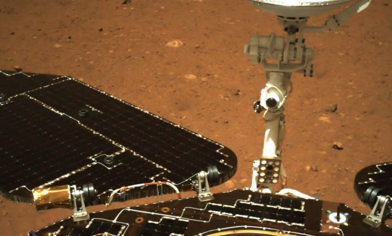 China's Mars rover Zhurong sends back first images from the surface