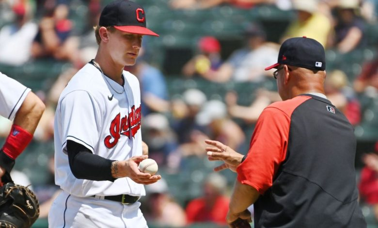 Cleveland Indians' Zach Plesac breaks right thumb ripping off shirt, Terry Francona says
