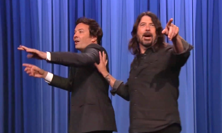 Dave Grohl has 'the best, the best, the best' time co-hosting 'The Tonight Show'