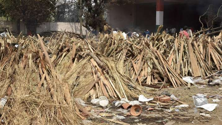 Funeral pyres lined up. (Representational image)