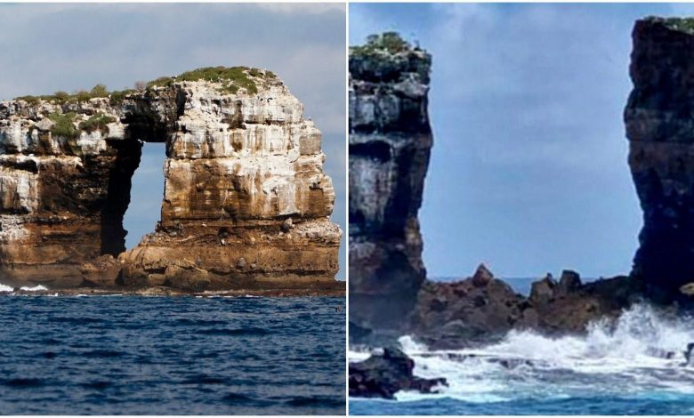 Galápagos Islands tourist attraction Darwin's Arch collapses