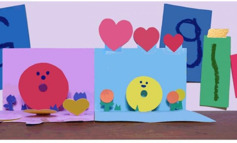Google celebrates Mother's Day with pop-up card Doodle