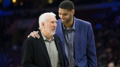 Gregg Popovich misses San Antonio Spurs game to attend Tim Duncan's Hall of Fame enshrinement
