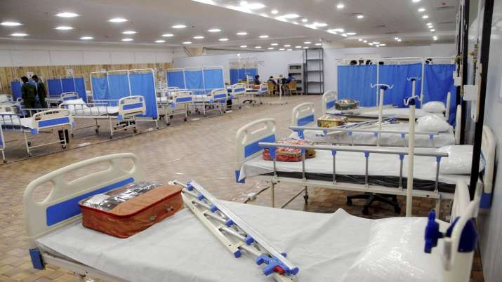 View of newly built 50 beded Covid Care Centre at Noida