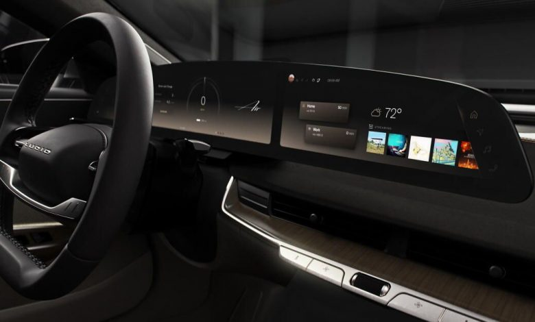 Lucid UX revealed, upcoming Air EV will boast 34-inch Glass Cockpit display
