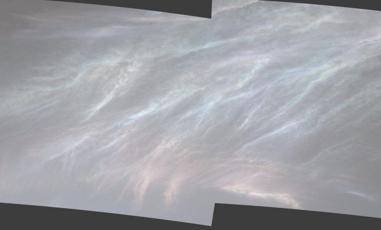 NASA Mars rover spots iridescent 'mother of pearl' clouds