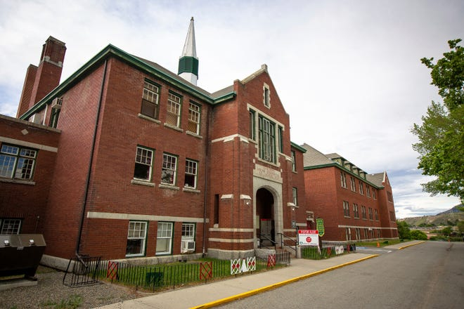 The former Kamloops Indian Residential School is seen on Tk'emlups te Secwépemc First Nation in Kamloops, British Columbia, Canada on Thursday, May 27, 2021.