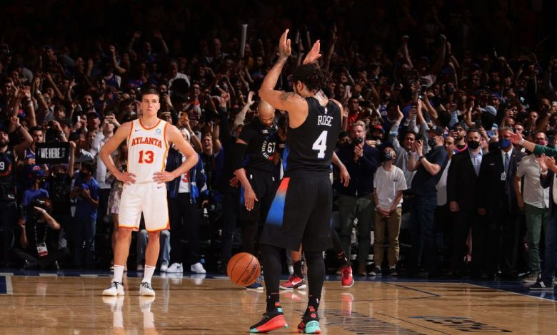 New York Knicks even series with Atlanta Hawks after first playoff win since 2013