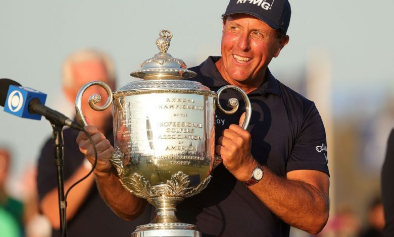 Phil Mickelson, 50, wins PGA Championship to become oldest major champion in golf history