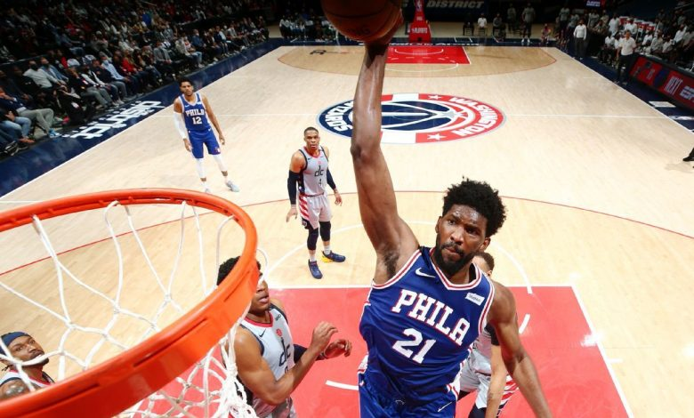 Philadelphia 76ers' Joel Embiid cruises to playoff career-high 36 points in rout of Washington Wizards