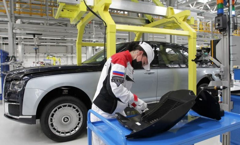 Russia begins production of high-end sedan promoted by Putin