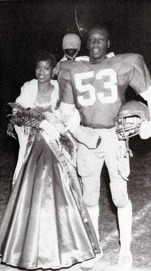 In 1982, John Drake at homecoming game at East High School in East Nashville, now the East Nashville Magnet Middle School