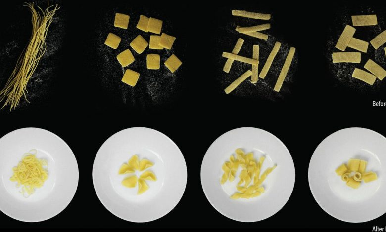 The strange, flat pasta that transforms into 3D shapes as you cook