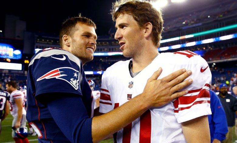 Tom Brady says he'd trade two New England Patriots Super Bowl wins for a perfect season, Eli Manning interjects