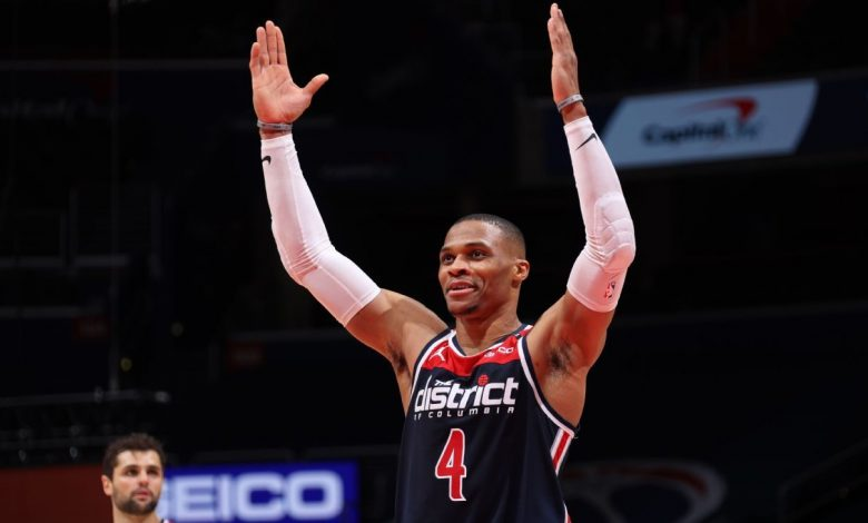 Washington Wizards' Russell Westbrook has 21 boards, 24 assists vs. Pacers, securing triple-double average for fourth time in career
