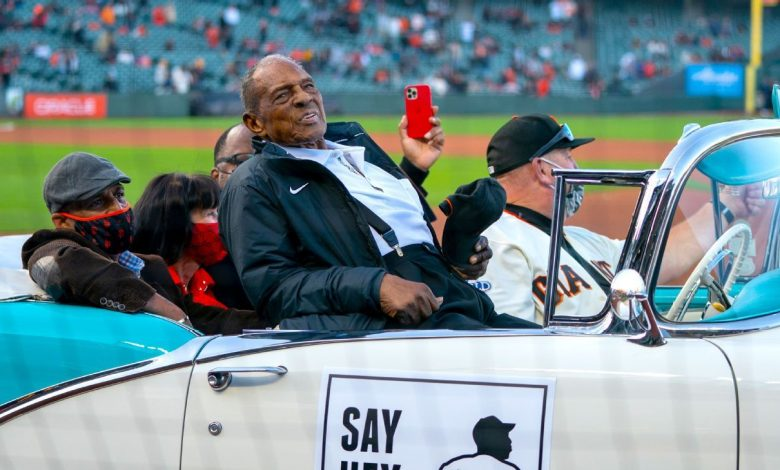 Willie Mays arrives at Oracle Park in style as San Francisco Giants celebrate his 90th birthday