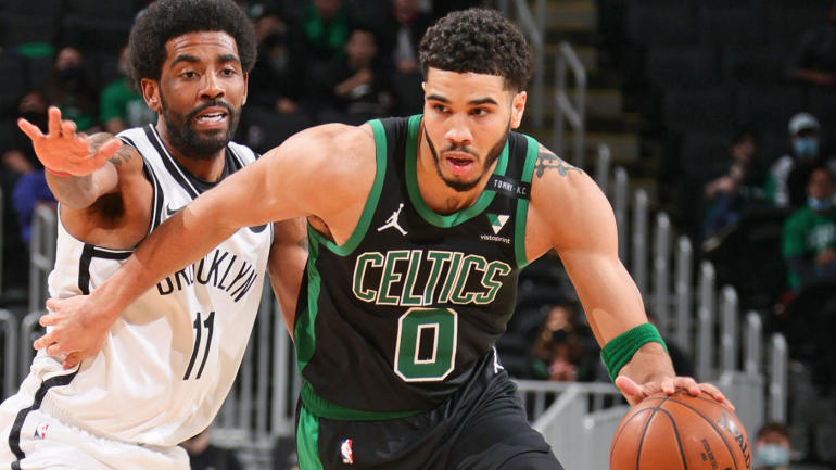 The Celtics vs. Nets game was simulated 10,000 times by SportsLine's projection model.