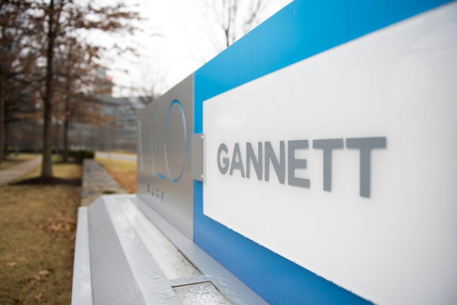 2/19/18 3:33:24 PM -- Mclean, VA U.S.A  -- A view of the Gannett sign outside the Valo Park office building. --    Photo by Jasper Colt, USA TODAY Staff ORG XMIT:  JC 136984  2/22/2018 [Via MerlinFTP Drop]