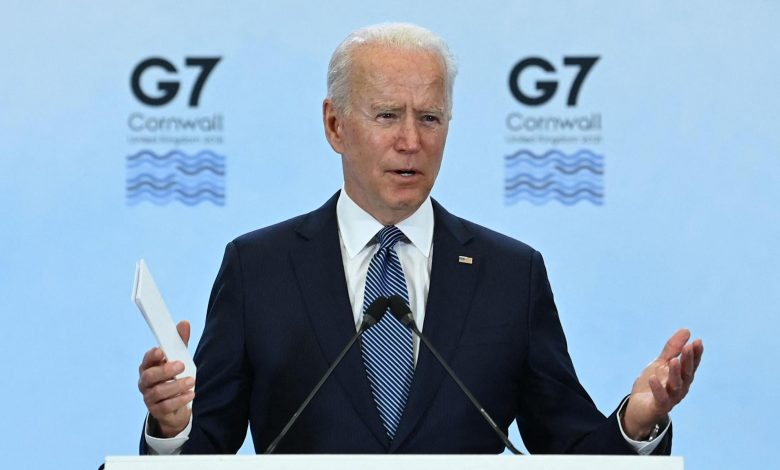 Biden says US-Russia relations at low point but 'we're not looking for conflict'