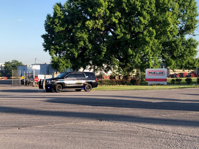At least three law enforcement agencies are on the scene this morning at Mueller in Albertville.