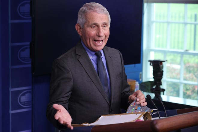 Dr. Anthony Fauci at the White House on April 13, 2021.