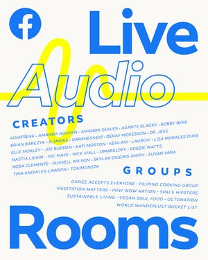 """Facebook announceda series of new audio products, including its Clubhouse rival, called """"Live Audio Rooms,""""which will be available across Facebook and Facebook Messenger."""