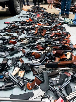 The ATF joined Los Angeles police in serving a search warrant in the affluent Holmby Hills area in 2019, turning up more than 1,000 guns from a single home based on an anonymous tip.
