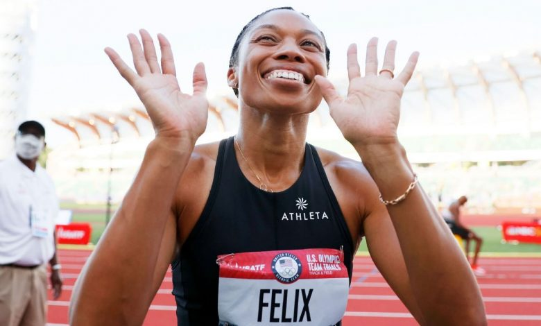 American Allyson Felix, 35, rallies in 400 meters, qualifies for her fifth Olympics
