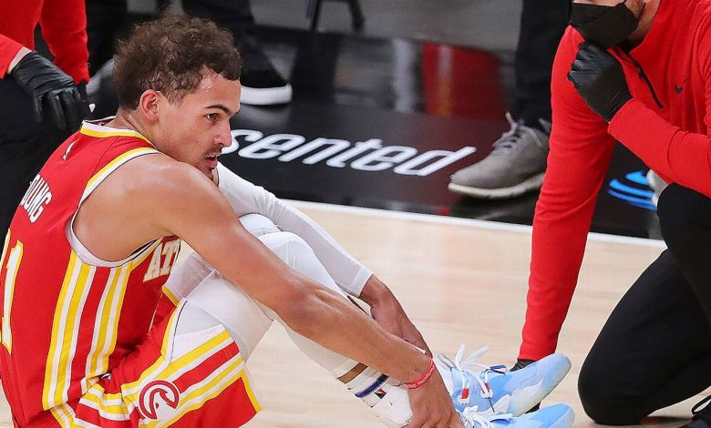 Atlanta Hawks star Trae Young says sprained ankle is sore, hurting