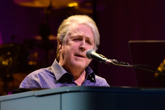 """Beach Boys co-founder Brian Wilson performing in 2017. He's now the subject of new documentary """"Long Promised Road."""""""