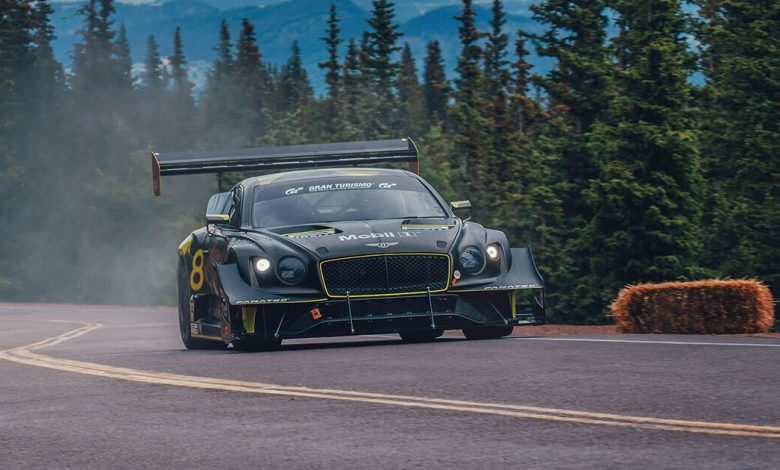 Bentley's renewable-fuel Continental GT3 earns 2nd-place Pikes Peak Time Attack finish